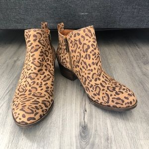 Lucky Brand Basel Leopard Leather Women's Booties